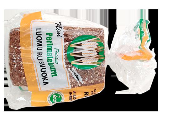 Perinneleipurit 100% Luomu miniruisvuokaleipä
