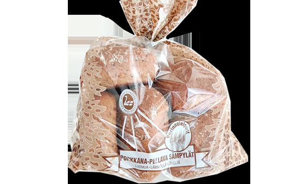 Perinneleipurit Luomu porkkana-pellavasämpylät